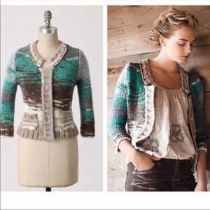 Anthropologie Shae multicolored wool cardigan